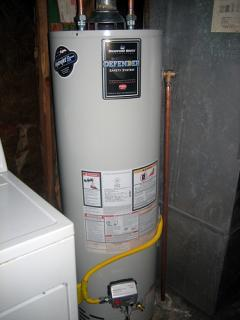 bradford white water heater installed by our Frisco TX plumbing team